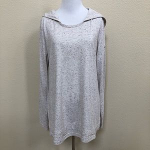 Columbia hooded long sleeve tee shirt top speckled